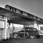 03 Customers arriving by car at a 'fly-in drive-in' theater, New Jersey, 1949