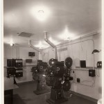 Projection booth, Two Motiograph K Projectors with Brenkert Enarc Lamps and RCA Photophone Soundheads