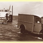 [anecdote]: Popop ran the ferry rain or shine ~ there were a few times when it got so rough they had to push the cars overboard.